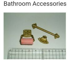 Miniature dolls house Accessories Bathroom Towl rack accessories 1:12th scale