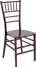 Mahogany Resin Chiavari Chair -Commercial Quality Stackable Wedding Venue Chair
