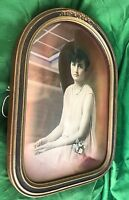 Antique Picture Frame for Wall Wood Portrait Photo Included