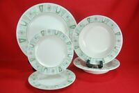Taylor Smith CATHAY 5 Pieces Dinner Plate (1) Bread Plates (2) Soup Bowls (2)