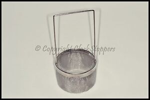 Large Steel Ultrasonic Mesh Cleaning Basket With Handle Watch Jewellery Parts