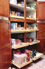 New custom made wood pull out sliding shelf for kitchen pantry bathroom cabinets