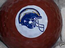 (1) SAN DIEGO CHARGERS NFL FOOTBALL LOGO GOLF BALL
