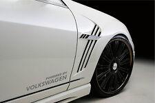 Powered by VOLKSWAGEN Sport Racing Decal sticker emblem logo SILVER Pair