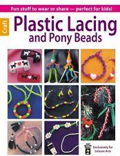 PLASTIC LACING AND PONY BEADS-Beaded Braiding-Macrame-Jewelry Craft Idea Book