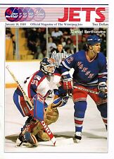 1989 Winnipeg Jets Home vs Hartford Whalers NHL Hockey Program #91