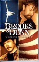 Brooks & Dunn Steers Stripes 2001 Cassette Tape Album Classic Country Folk Rock