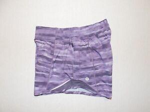Woman's Lululemon Hotty Hot Short II 4 Size 4 Purple Tie Dye