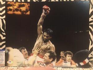 ROBERTO DURAN Signed Autograph Auto 11x14 Picture Photo Boxing Champion PSA/DNA