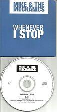 MIKE & THE MECHANICS & PAUL CARRACK Whenever I stop PROMO CD single Genesis 1999