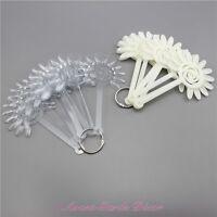 120pcs Clear/Ivory Acrylic Flower Nail Art Display Practice Fan Board