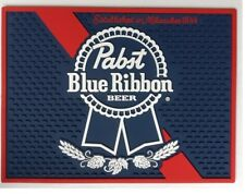"PABST BLUE RIBBON PBR SPILL MAT BAR MAT COASTER 12"" x 9.5"" NEW"