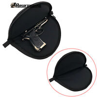 Tactical Black Soft Padded Pistol Case Rug Pouch Bag Hand Gun Storage Hunting