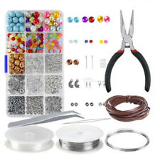 Large Jewelery Making Kit Starter Tool Pliers Set Silver Beads Findings ThrALUK