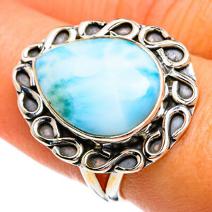 Larimar 925 Sterling Silver Ring Size 7.5 Ana Co Jewelry R80441F