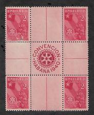 Caribbeans Is 1940 Gutter Block Scott # 362,VF MNH**OG (RN-5)
