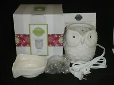 NEW WHOOT OWL WHITE FULL SIZE SCENTSY ELECTRIC WAX WARMER WITH BOX