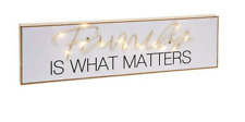 FAMILY led Word Block Light up Home Decor Plaque