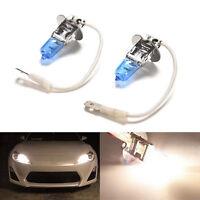 2X H3 100W Super Weiß LED Halogen Auto Fahren Scheinwerfer Nebel Glühlampen TG
