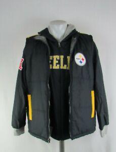 Pittsburgh Steelers NFL G-III Men's Reversible Vest and Sweatshirt