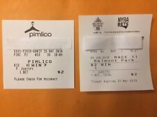 $2 Win ticket Triple Crown winner Justify  Preakness AND Belmont Stakes $20