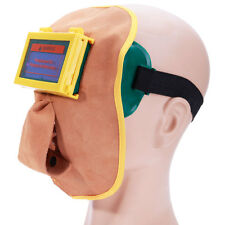 Protable Leather Welding Solar Auto Darkening Filter Lens Hood Helmet Mask