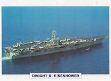 1975 USS DWIGHT D. EISENHOWER Aircraft Carrier / Warship Photograph Maxi Card /