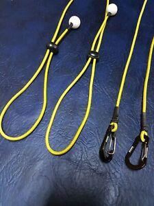 2x Kayak Paddle Leash Fishing Rod Holder Bungee Tie Rope Shock Cord Lanyard