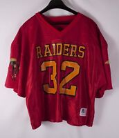 Raiders Sports Belle Jersey Vintage Vtg #32  Red Size L/ XL *F1018a3