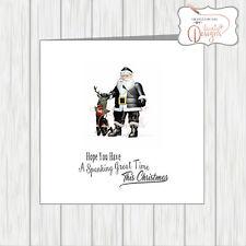 LGBT Gay Pride Lesbian Christmas Card Fetish Maledom Kinky Santa & Whip Reindeer