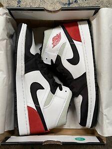 Nike Air Jordan 1 Mid SE Union Black Red Toe Size 8.5 Brand New 852542-100 FAST