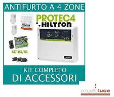 KIT ANTIFURTO ALLARME CASA HILTRON KPROTEC4 ITALIA CON CENTRALE e ACCESSORI