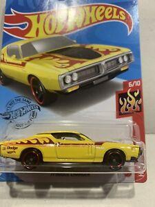 Hot Wheels 71 Dodge Charger HW FLAMES LONG CARD NEW SEALED HTF 6/10 !!!!!!