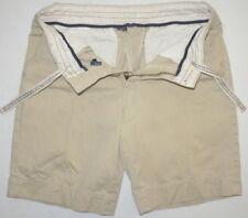 Mens 31 Polo Ralph Lauren Khaki Cotton Twill Drawstring Shorts