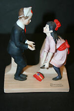 "The 12 Norman Rockwell Porcelain Figurines ""First Dance"""