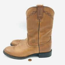 Ariat Cowgirl Boots Heritage Brown Round Toe Roper Leather Women Size 7B