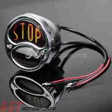 Motorcycle Stop Classic Stainless Tail Light Assembly Custom Bobber Light Lamp