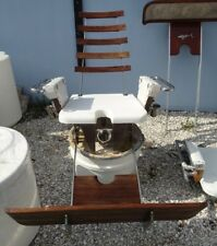 Teak deep sea fish fighting chair Pompanette   in great condition