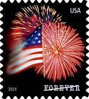 USPS Forever Stamps Star Spangled Banner Roll of 100 Postage Stamps Fireworks