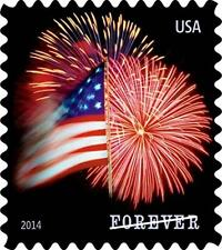 USPS Forever Stamps Star Spangled Banner Roll of 100 Postage Stamps Fireworks