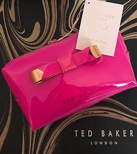 Genuine TED BAKER Luminoso Rosa & Rose Gold fiocco Wash Bag-NUOVO CON ETICHETTE