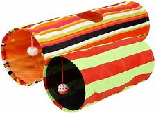 Pet Magasin Collapsible Cat Tunnel Toys (2 Pack) Interactive Pet Tubes NEW