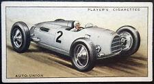 AUTO-UNION  16 Cylinder Racing Car   Original 1930's Vintage Card  VGC