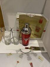 SMIRNOFF A CASA Cocktail Set-Cocktail Shaker da, 2x di marca Occhiali, Carte di composizione