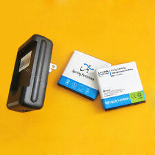 2x 2850mAh battery+Multi Function USB Charger For T-Mobile HTC myTouch 4G Slide