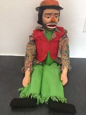 Emmett Kelly Ventriloquist Dummy Doll Marked Juro Novelty Co