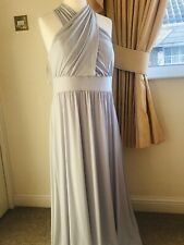 New M&S Multiway Silver Grey Long Dress, Size 18