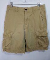 Eddie Bauer Legend Wash Mens Tan Cargo Shorts Size 32