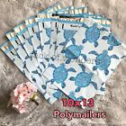20 Designer Printed Poly Mailers 10X13 Shipping Envelopes Bags Blue Sea Turtle