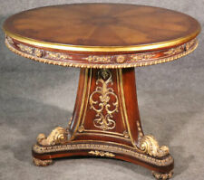 French Louis XV Carved Gilded Ciracssian Walnut Regency Center Table circa 1930s